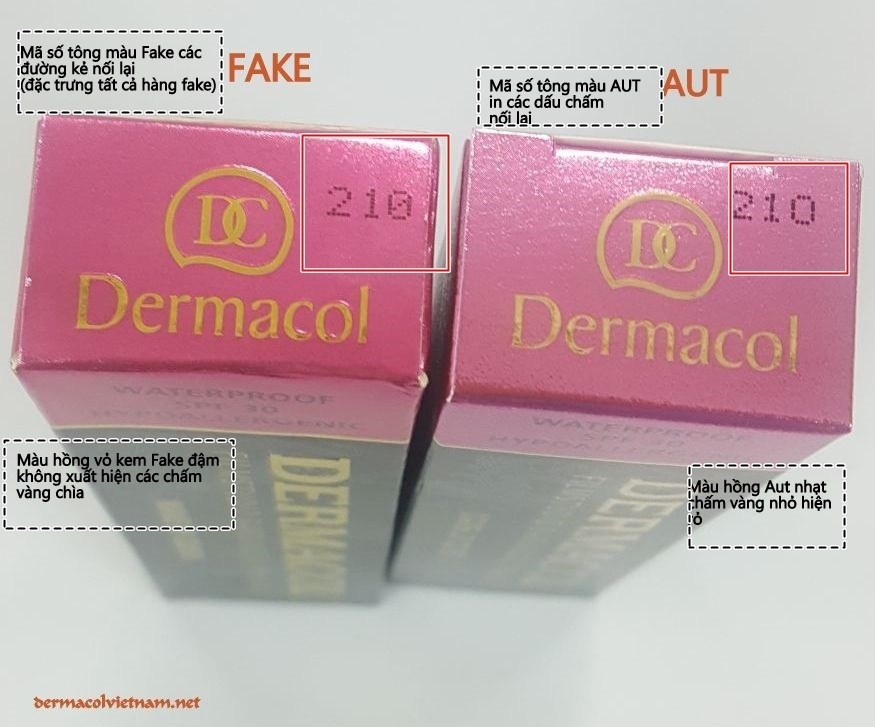 Phân biệt Dermacol chính hãng và hàng Fake